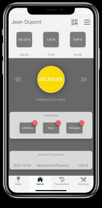 LightPAY screen shot 1 (delegate) - chèque repas digital - digital meal voucher Luxembourg