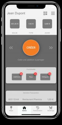 LightPAY screen shot 2 (share) - chèque repas digital - digital meal voucher Luxembourg
