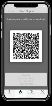 LightPAY screen shot 5 (QR-code) - chèque repas digital - digital meal voucher Luxembourg